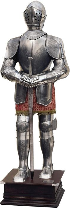 Spanish Medieval Knight Suit of Armor of the 16th Century   by Marto of Toledo Spain