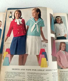 10 Amazing Things from the 1965 Sears Catalog — From the Archives: Greatest Hits 60s And 70s Fashion, Old School Fashion, Tween Fashion, Retro Fashion, Vintage Fashion, Decades Fashion, Little Girl Dresses, Girls Dresses, Fashion Catalogue