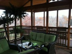 Custom built screened in porch, composite deck, tongue & groove vaulted ceiling and cedar beam.
