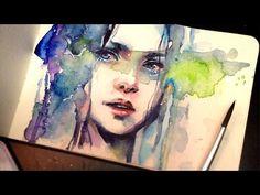 【WATERCOLOR PORTRAIT】The Premonition - YouTube