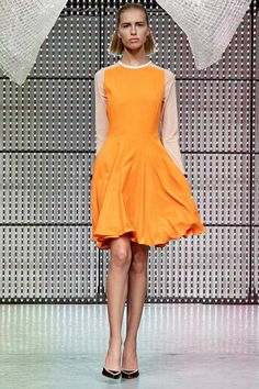 Love this bright tangerine color from the Antipodium S/S 2013 collection at #LFW!