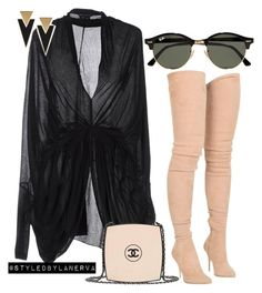 """""""Untitled #886"""" by amanda-lanerva ❤ liked on Polyvore featuring Tom Ford, Chanel, Balmain, Ray-Ban and Yves Saint Laurent"""