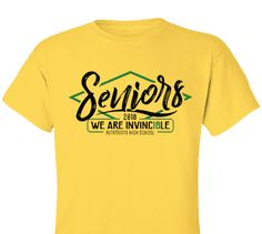 High School Impressions search SEN-102-W; 2018 Invincible High School Senior T-Shirts- Create your own design for t-shirts, hoodies, sweatshirts. Choose your Text, Ink and Garment Colors.