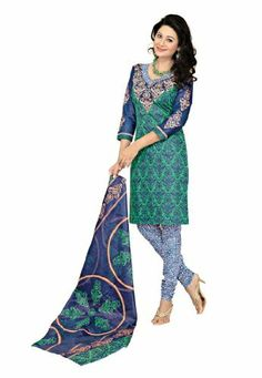 Fabdeal Indian Designer Printed Cotton Green Printed Salwar Kameez Fabdeal, http://www.amazon.co.uk/dp/B00INWRB36/ref=cm_sw_r_pi_dp_FSNntb1A5B1DB