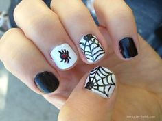 Spider Web Nails for Halloween