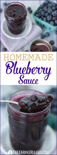 This easy Homemade Blueberry Sauce is the perfect topping for ice cream and pancakes as well as many other desserts. This simple recipe takes just 15 minutes to make.