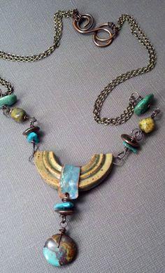 Staci Smith/stacilouise - Bohemian Balance necklace - artisan clay focal