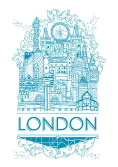 Cities in The Sky by Geo Law, via Behance