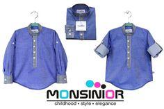 Monsinior, Koszule dziecięce, Model Filip -100% bawełna