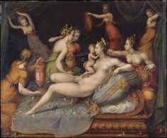 Master of Flora (Italian, Fontainebleau, second half 16th century). The Birth of Cupid. The Metropolitan Museum of Art, New York. Rogers Fund, 1941 (41.48)