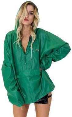 9f04be820516d Vintage 80s Izod Lacoste Green Windbreaker Jacket
