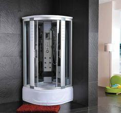 Cabina Idromassaggio 80x80 Box doccia Vasca Sauna Bagno turco con CROMOTERAPIA
