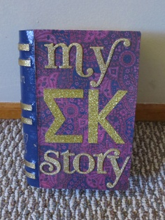 For my little, a book box to collect memories of Sigma Kappa. Bid Day was the beginning, and now she gets to write the rest of her story! ♥