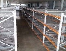 Longspan shelving with mesh decks and dividers Longspan Shelving, Shelving Systems, Dividers, Decks, Pallet, Mesh, Storage, Building, Projects