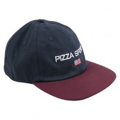 38eb77bcfd84 Pizza Skateboards Pizza Sport Cap in Navy   Red Sports Caps