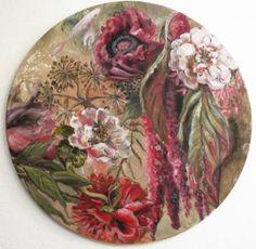 """Pez entre las flores"" 35cm diametro, 2016, oil painting #fish #flowers #fineart #contemporaryart #oilpainting #baroque #fiori #beautifulflowers"