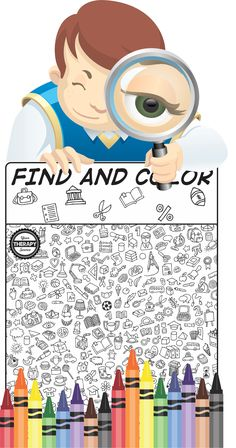 Here is a visual perceptual freebie Find and Color for back to school from the…