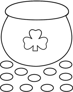 printable pot of gold template from printabletreats com shapes and rh pinterest com