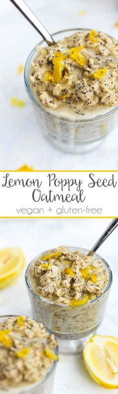 What's better than a warm bowl of oatmeal for breakfast? Oatmeal that tastes like a muffin! This Lemon Poppy Seed Oatmeal is bursting with lemon flavor.