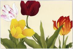 Japanese Art Tanigami Konan Flower Prints Tulips 2 Fine Art Reproductions | eBay