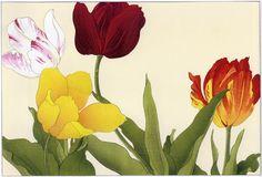 Japanese Art Tanigami Konan Flower Prints Tulips 2 Fine Art Reproductions | eBay