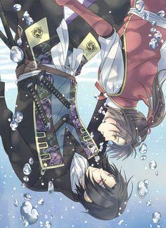 Hakuouki Shinsengumi Kitan, Yukimura Chizuru, Hijikata Toshizou (Hakuouki)-----I so love this pic