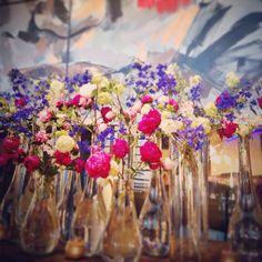 Beautiful flowers in the Delaire Graff Estate reception