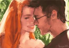 This could be James & Lily but also Harry & Ginny ♥