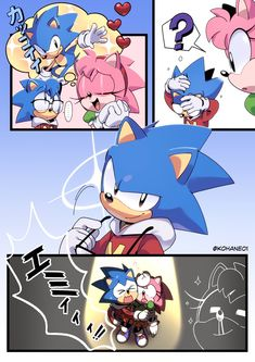 Sonic And Amy, Sonic 3, Sonic Fan Art, Sonic The Hedgehog, Shadow The Hedgehog, Sonic Fan Characters, Cute Characters, Sonamy Comic, Sonic Unleashed