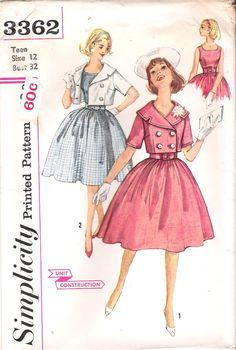Vintage Simplicity Sewing Pattern 3362 by GrandmaMadeWithLove