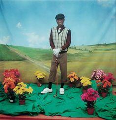 Samuel Fosso, The Golfplayer, 1997, Deutsche Bank Collection. Courtesy Galerie Jean Marc Patras, Paris