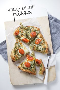 spinach artichoke pizza - toddler family