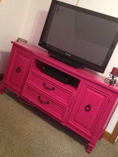 Revamped Dresser Into A Tv Stand... probably not the link though haha