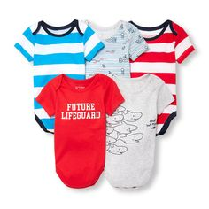 Check out The Children's Place for a great selection of kids clothes, baby clothes & more. Shop at the PLACE where big fashion meets little prices! Newborn Boy Clothes, Newborn Outfits, Baby Boy Outfits, Kids Shorts, Boy Shorts, Kids Boys, Baby Boys, Lifeguard, Big Fashion