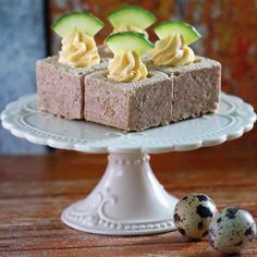 Tojáskrémes sonkakocka Cake, Kuchen, Torte, Cookies, Cheeseburger Paradise Pie, Tart, Pastries