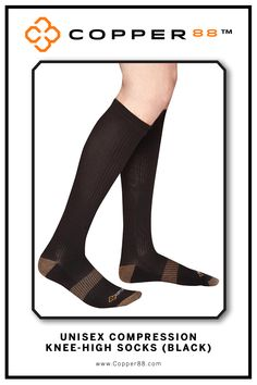 The only product to have 88% copper embedded in it's fabric. These comfortable Knee High Compression Socks are available from sizes 6-9 and 8-11. Form Fitting and aid in performance and recovery time.Comfortably worn during exercise, daily activities and rest Super-fast wicking keeps garments dry.Antibacterial and anti-odour properties will keep you feeling and smelling fresh. Copper88™ fabric attributes are inherent in all our garments and will last for as long as you own our products