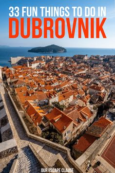 33 Fun Things to Do in Dubrovnik, Croatia : the ultimate bucket list for the Pearl of the Adriatic. Cool Places To Visit, Places To Travel, Places To Go, Dubrovnik Croatia, Croatia Travel, Lokrum Island, Europe Travel Tips, European Travel, Travel Destinations