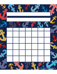 Anchors Incentive Charts Filling up a x chart with stickers is a sure way to motivate young students. Label each chart with a task and a name. 36 per pack. Student Incentives, Classroom Incentives, Classroom Tools, Classroom Themes, Future Classroom, Nautical Bulletin Boards, Incentive Charts, Teacher Created Resources, Diy Calendar