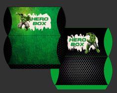 The Hulk Pillow Boxes Party Printable Pillow Box, Party Printables, Hulk, Drink Sleeves, Boxes, Pillows, Crates, Cushion, Box