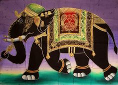 Batik of Traditional Indian Elephant