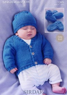 Sirdar--Cardigan, Hat, Bootees and Mittens (birth - age 7)