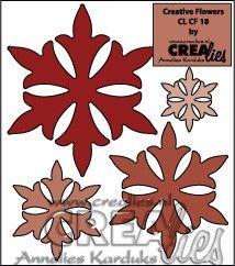 Crealies Creative Flowers no. 18 (stans - die - Stanzschablone - pochoir) http://www.crealies.nl