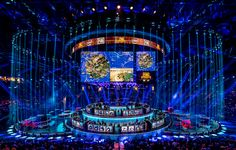 PUBG Global Invitational 2018 | disguise Tv Set Design, Stage Set Design, Event Design, Award Tour, Stage Lighting Design, Live Events, Art Reference Poses, Marketing, Architecture Design
