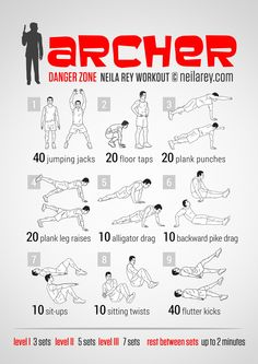 Archer Workout Two favorite things, Archer and working out......because that's how we get ants!