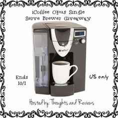 Enter to Win an iCoffee Opus Single Server Brewer Giveaway Ends 10/1