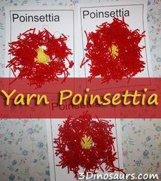 Yarn poinsettia - legend of poinsettia Christmas Poinsettia, Christmas Hanukkah, Preschool Christmas, Christmas Crafts For Kids, Christmas Activities, Preschool Crafts, Christmas Themes, Holiday Crafts, Christmas Holidays