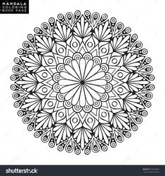 Find Flower Mandala Vintage Decorative Elements Oriental stock images in HD and millions of other royalty-free stock photos, illustrations and vectors in the Shutterstock collection. Doodle Coloring, Mandala Coloring Pages, Coloring Book Pages, Coloring Sheets, Mandalas Painting, Mandalas Drawing, Zentangles, Flower Mandala, Mandala Art