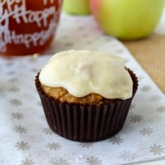 Apple Cider Muffins with Brown Butter Glaze