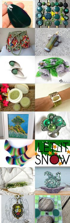 Green Beauties by Dennis and Kay on Etsy--Pinned with TreasuryPin.com
