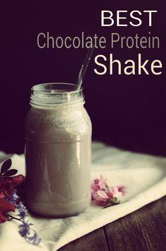 The Best Chocolate Protein Shake / 1 Banana, Greek Yogurt, PB2, Chocolate Almond Milk.